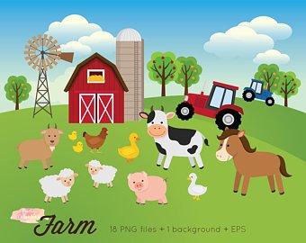 Farmyard clipart picture free Clip Art Farm | Insecta picture free