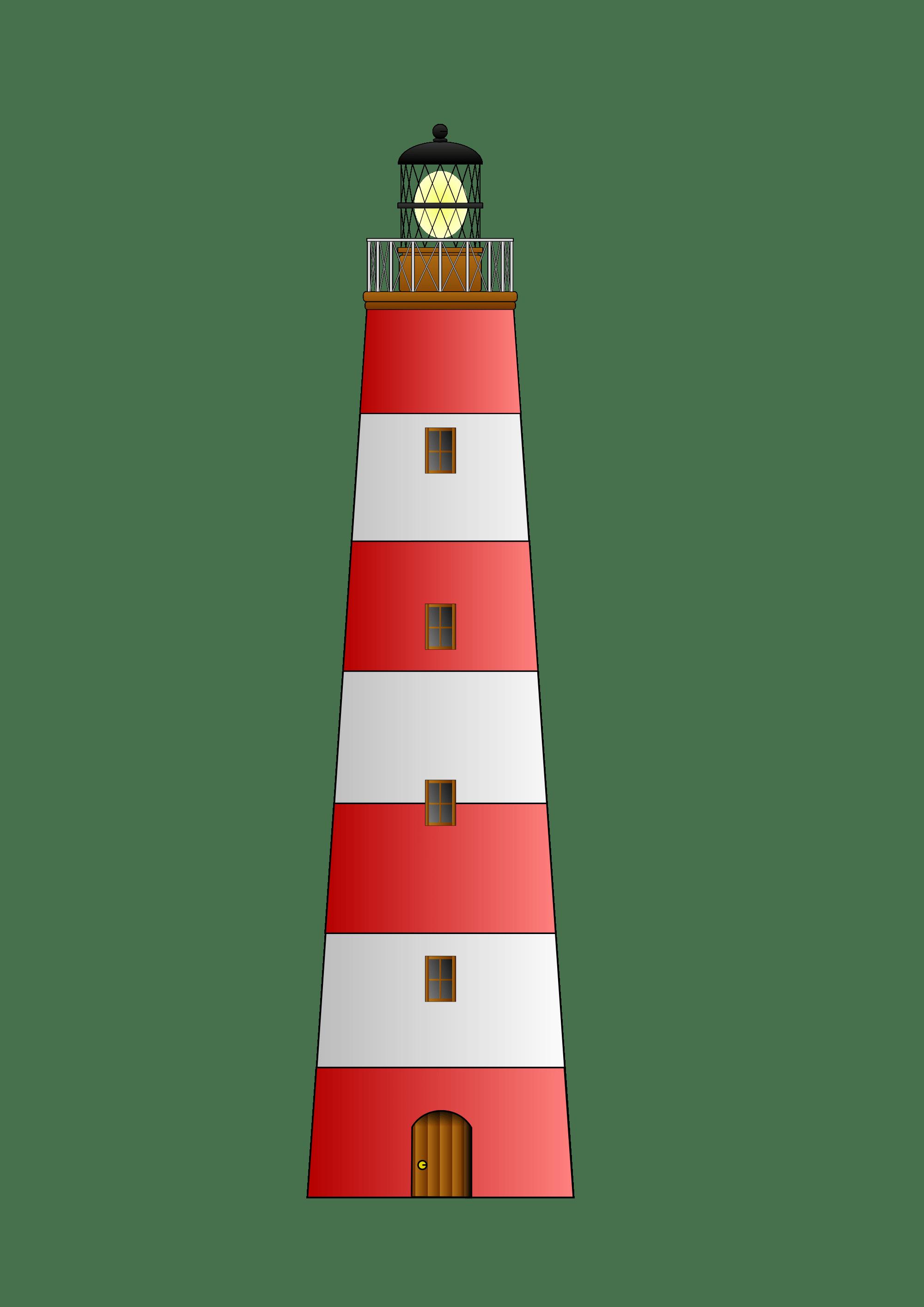 Faro clipart vector download Faro Rojo y Blanco Clipart PNG transparente - StickPNG vector download