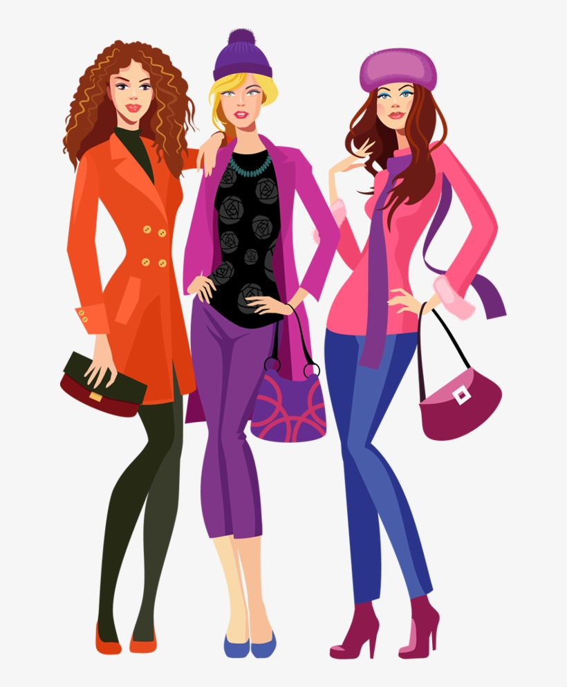 Fashion clipart png clip library Clipart Family Shopping - Fashion Model Cartoon Png - Free ... clip library