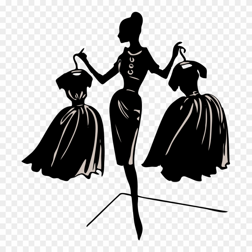 Fashion hair clipart black and white library Fashion Hair Cliparts - Dress On Hanger Clipart - Png Download ... black and white library
