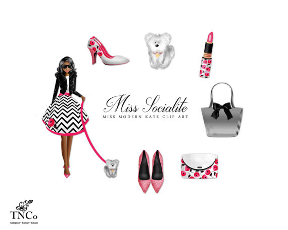 Fashion logo clipart commercial use graphic library Girl Clipart Modern Clipart Commercial use Clipart graphic library