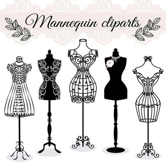 Fashion mannequin clipart