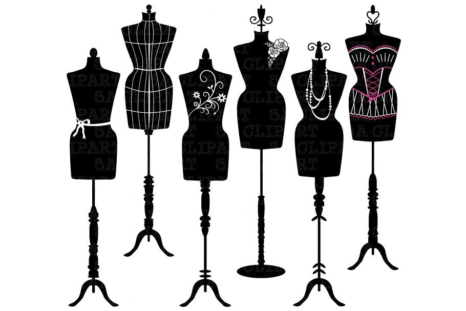 Fashion mannequin clipart free download Mannequin Silhouette ClipArt free download