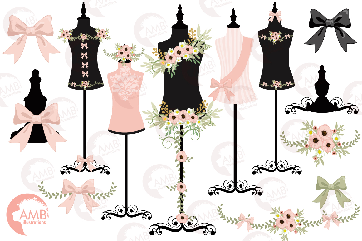 Fashion mannequin clipart picture royalty free stock Dress forms mannequin clipart, graphics, illustrations AMB-1008 picture royalty free stock