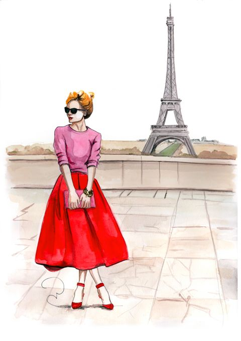 Fashion model clipart eiffel tower clip art vector black and white library fashion model in front of eiffel tower paris | :: Fashion sketches ... vector black and white library