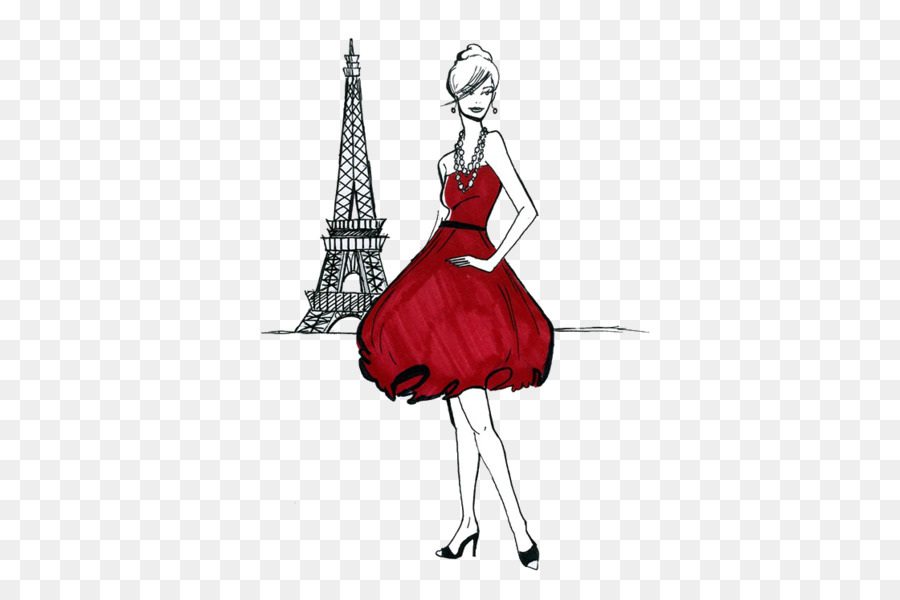 Fashion model clipart eiffel tower clip art vector freeuse stock Eiffel Tower Drawing clipart - Fashion, Drawing, Illustration ... vector freeuse stock