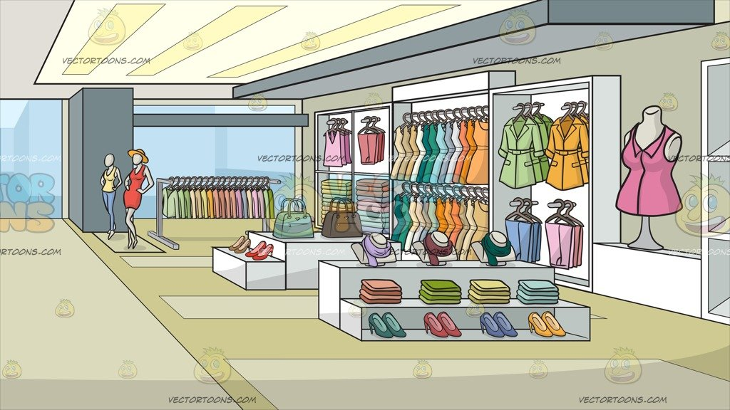 Fashion shop clipart graphic transparent stock A Clothing Store For Women Background graphic transparent stock