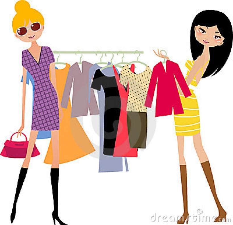 Fashion shopping clipart clip library download Fashion shopping girl stock image image 11800691 with fashion ... clip library download