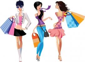 Fashion shopping clipart jpg royalty free Fashion shopping girls | Clipart Panda - Free Clipart Images jpg royalty free