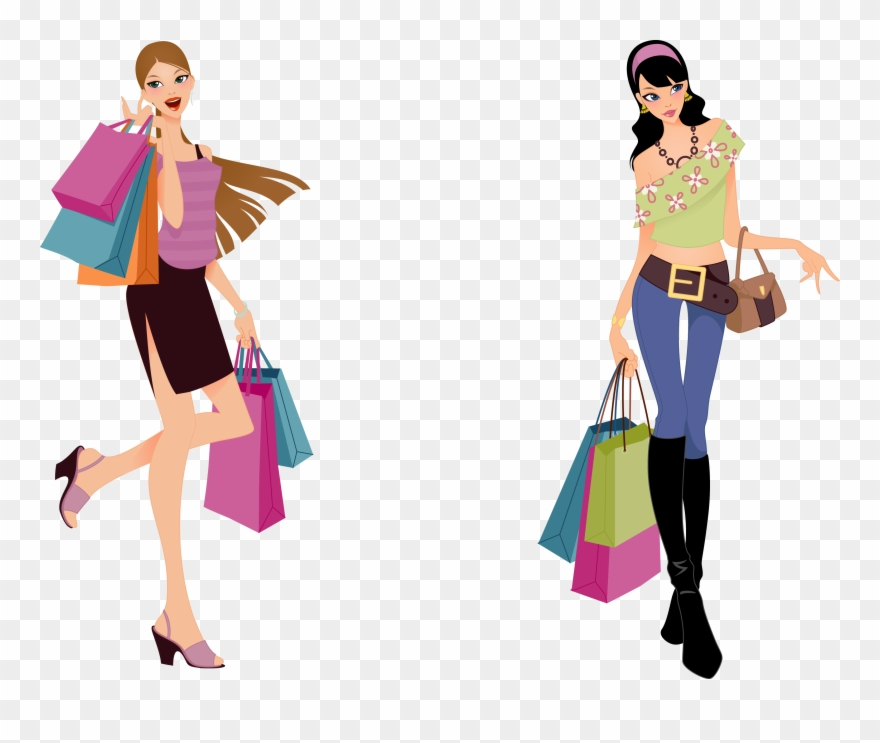 Fashion shopping clipart clip transparent download Picture Download Beauty Vector Fashion Sketch - Fashion Shopping ... clip transparent download