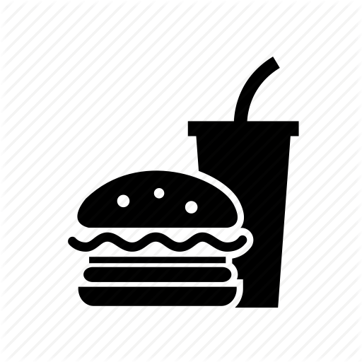 Fast food icon clipart png black and white Junk Food Cartoon clipart - Hamburger, Food, transparent clip art png black and white