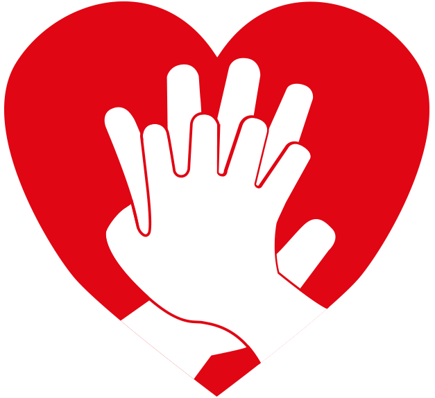 Hands around heart clipart vector black and white download Restart a heart day vector black and white download