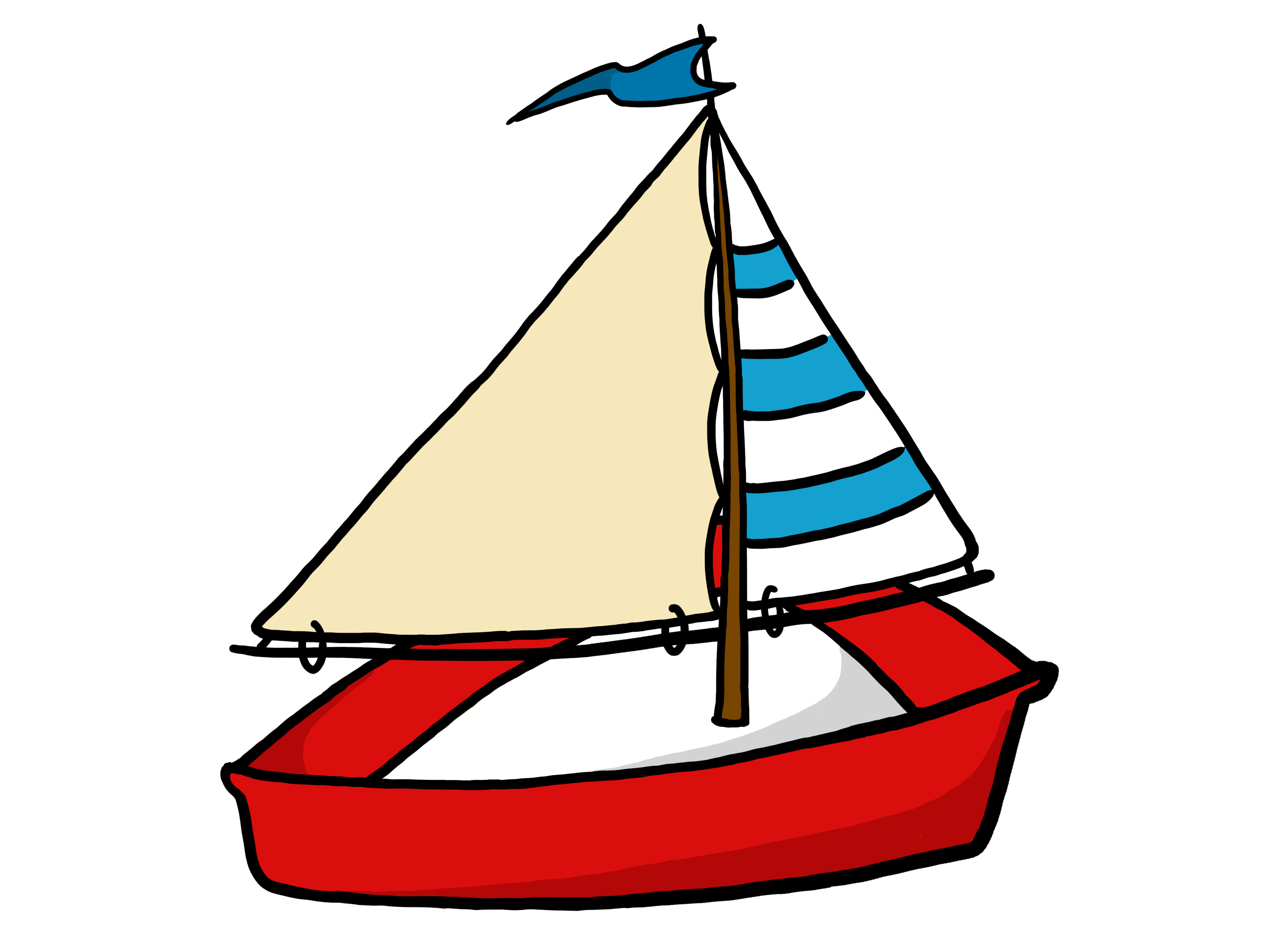 Yellow ship clipart
