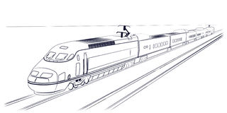 Fast train clipart black and white clip library Passenger High-speed Train Stock Images - 160*320 - Free Clipart ... clip library