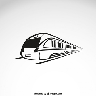 Fast train clipart black and white clipart library Train Vectors, Photos and PSD files   Free Download clipart library