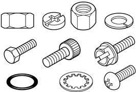 Fasteners clipart graphic black and white library Nuts And Bolts Clip Art - Royalty Free - G #203839 - Clipartimage.com graphic black and white library