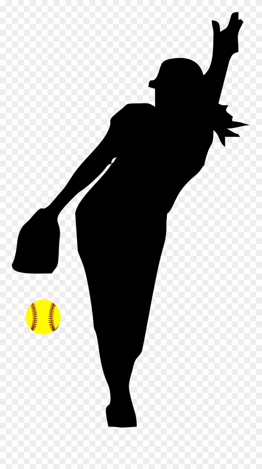 Fastpitch clipart clipart black and white Softball Fastpitch Clip Art Transparent Background - Png Download ... clipart black and white