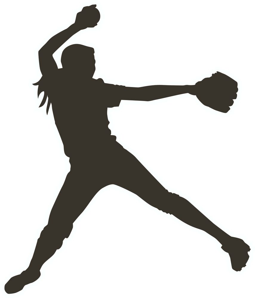 Fastpitch clipart image Girl softball pitcher clipart - ClipartFest | Silhouette | Softball ... image