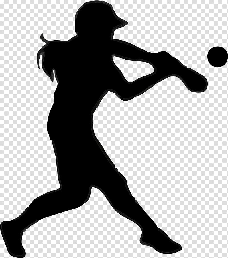 Fastpitch clipart clip art black and white Baseball player , Fastpitch softball Sport National Pro Fastpitch ... clip art black and white