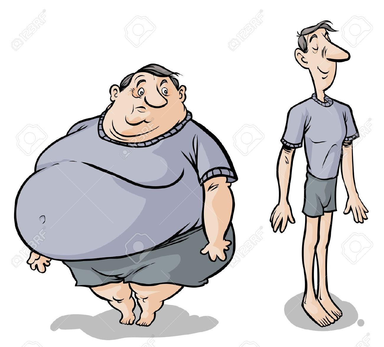 Fat and thin clipart image library stock Fat thin clipart - ClipartFest image library stock