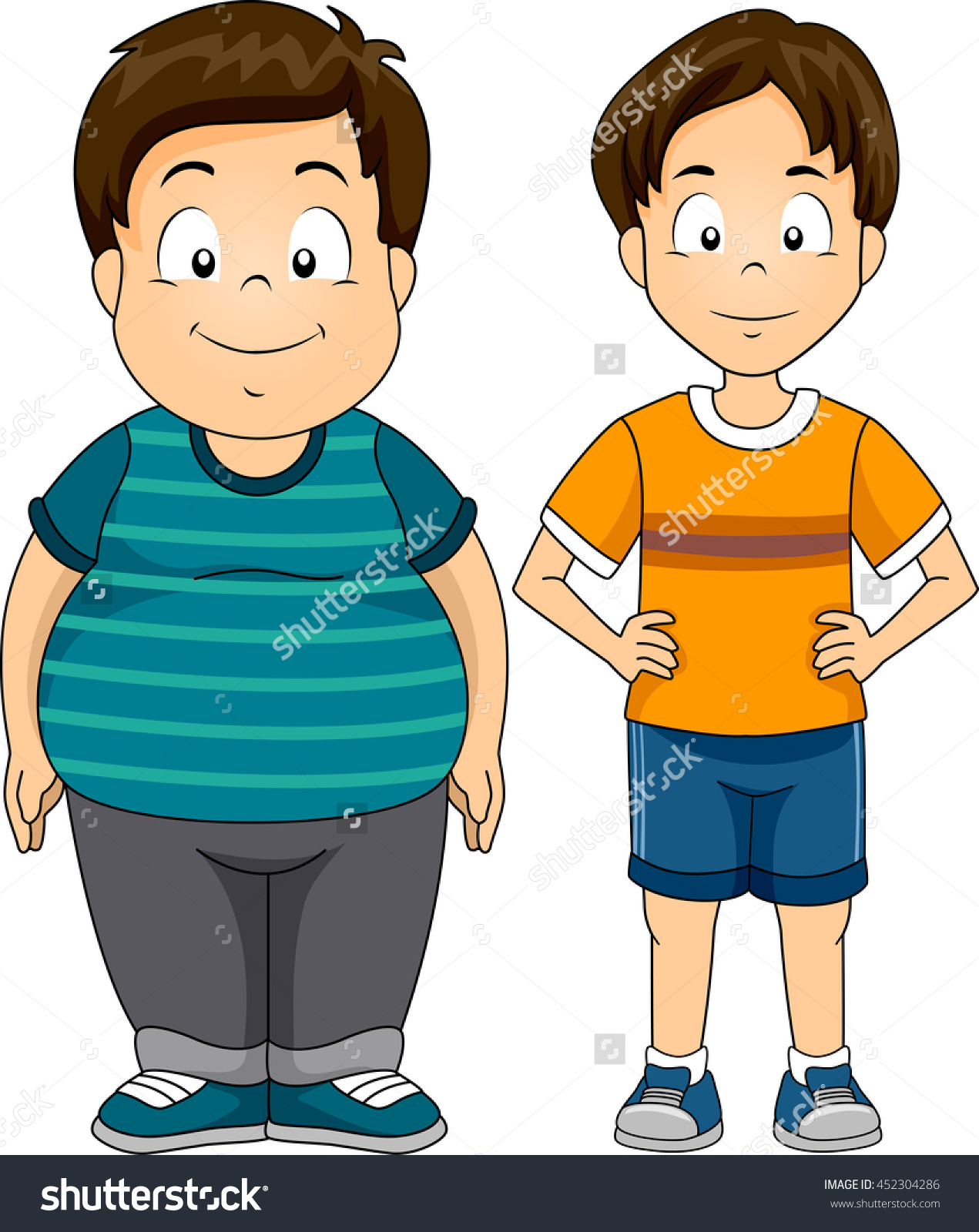 Fat and thin clipart image freeuse stock Fat and thin boy clipart - ClipartFest image freeuse stock