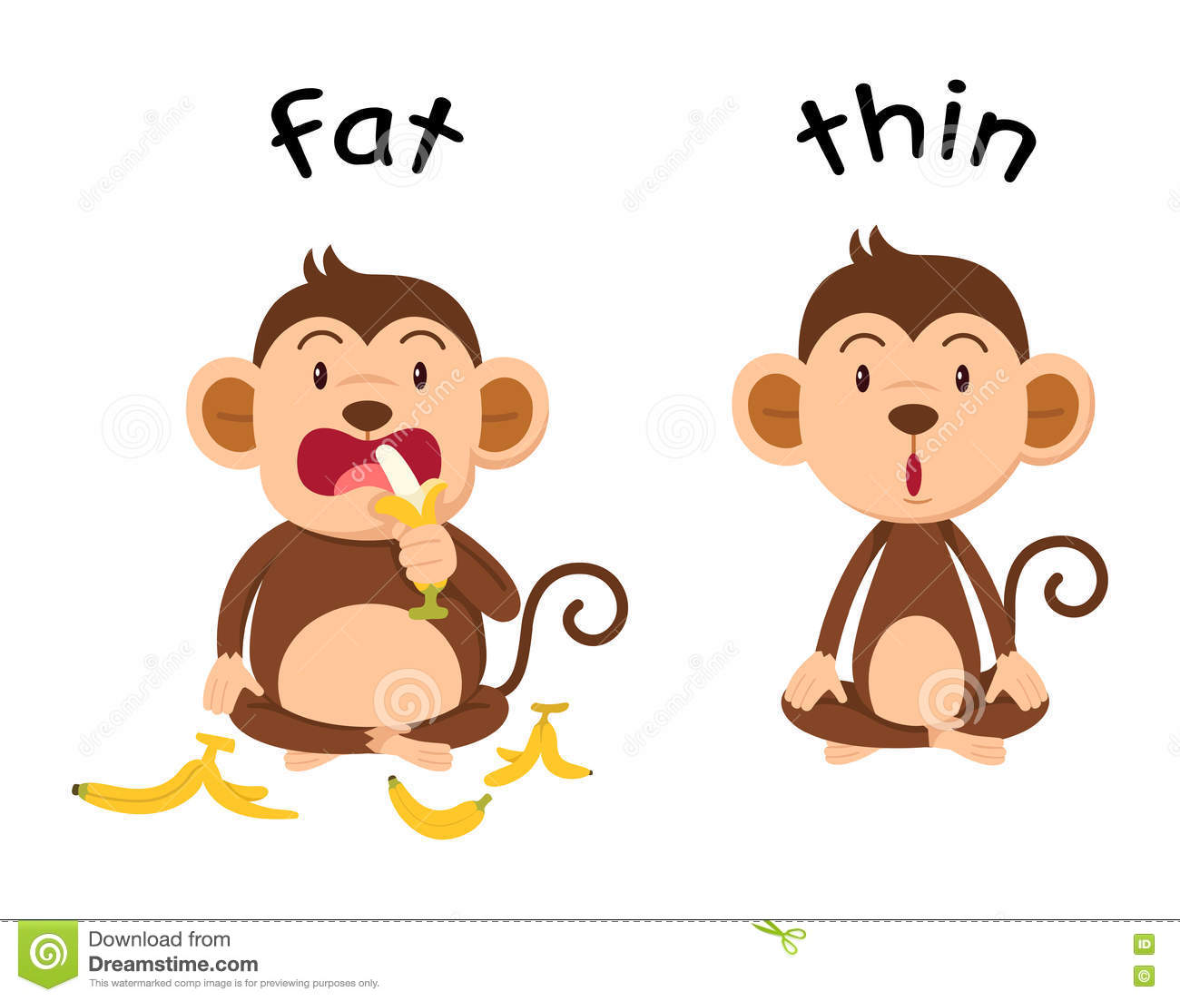Fat and thin clipart graphic black and white stock Thin and fat clipart - ClipartFest graphic black and white stock