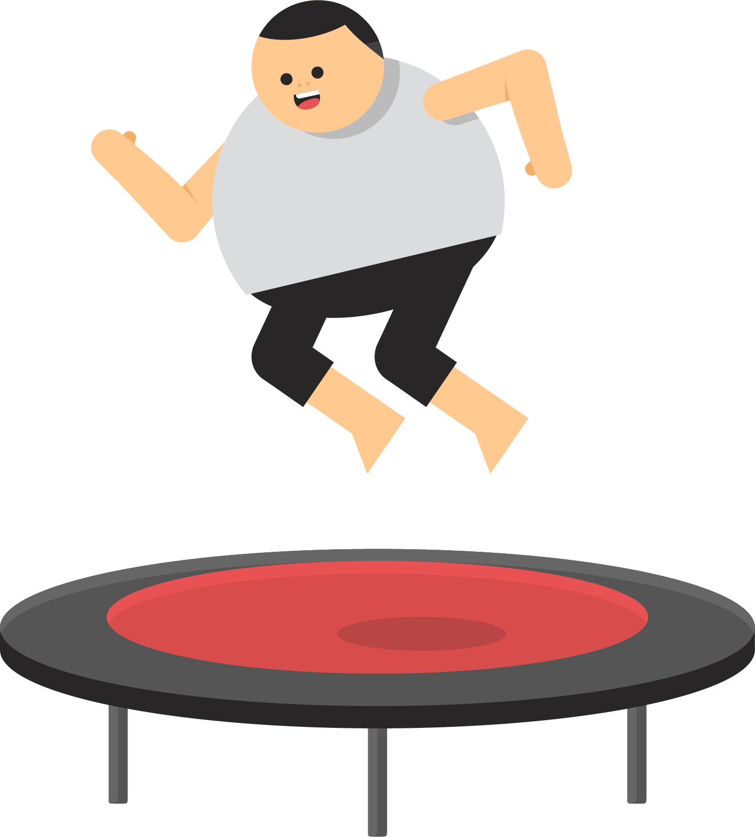 Fat guy basketball clipart vector stock Trampoline Icon - Fat playing trampoline 1486*1649 transprent Png ... vector stock