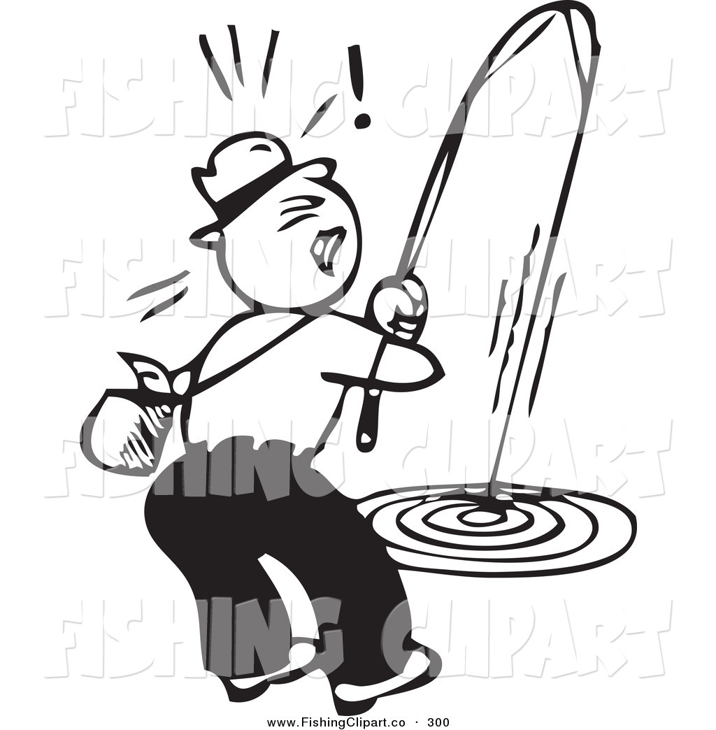 Fat guy fishing clipart black and white picture black and white download Fish Black And White Clipart | Free download best Fish Black And ... picture black and white download