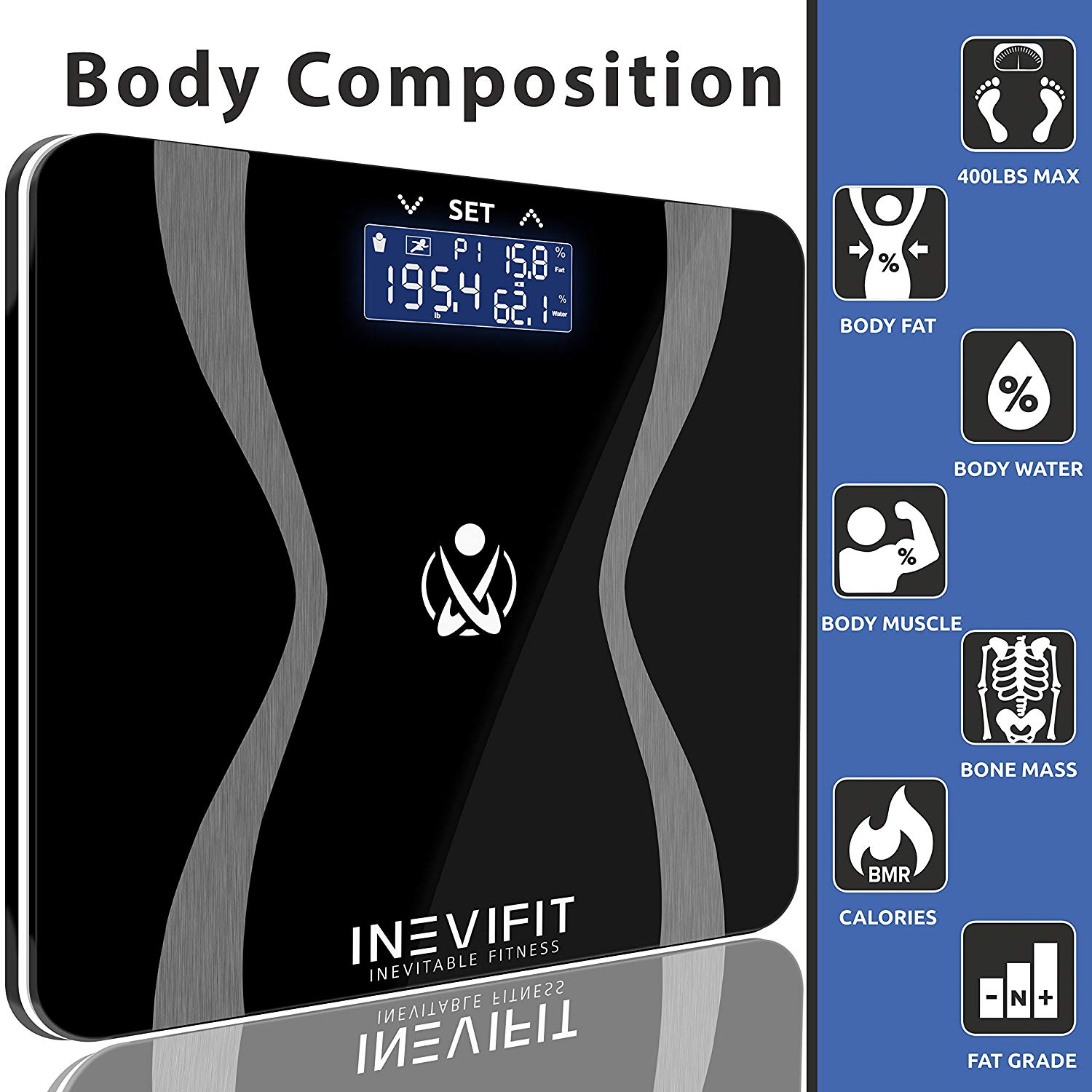 Fat navy blue star clipart clip library stock INEVIFIT Body-Analyzer Scale, Highly Accurate Digital Bathroom Body  Composition Analyzer, Measures Weight, Body Fat, Water, Muscle & Bone Mass  for 10 ... clip library stock