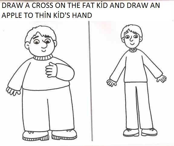 Fat thin clipart image freeuse library Fat and thin clipart black and white - ClipartFest image freeuse library