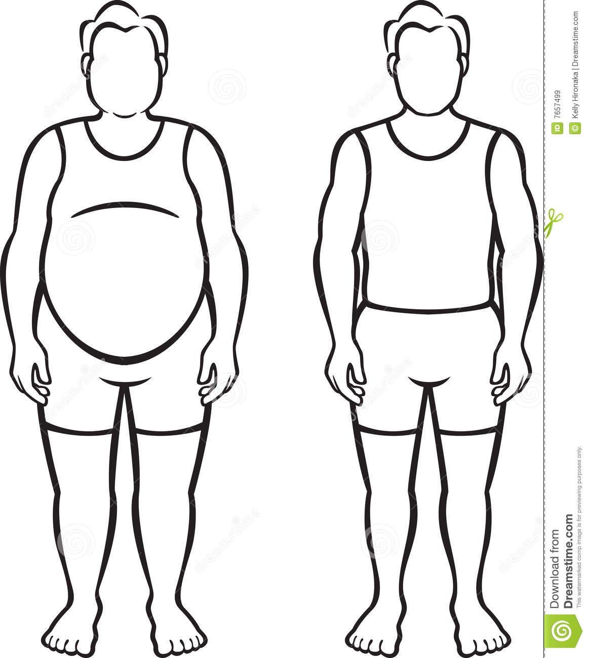 Fat vs thin clipart picture transparent download Thin and fat clipart - ClipartFest picture transparent download