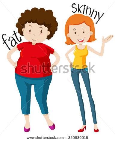 Fat vs thin clipart vector download Fat Skinny Stock Vectors, Images & Vector Art   Shutterstock vector download