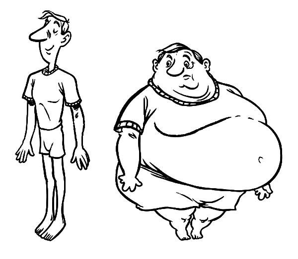 Fat vs thin clipart free Fat and thin clipart black and white - ClipartFest free