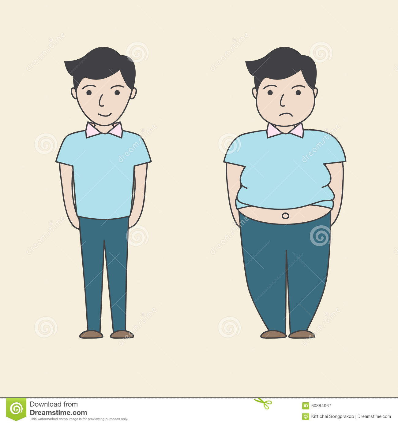 Fat vs thin clipart png black and white download Cartoon Fat Slim Stock Photos, Images, & Pictures - 864 Images png black and white download
