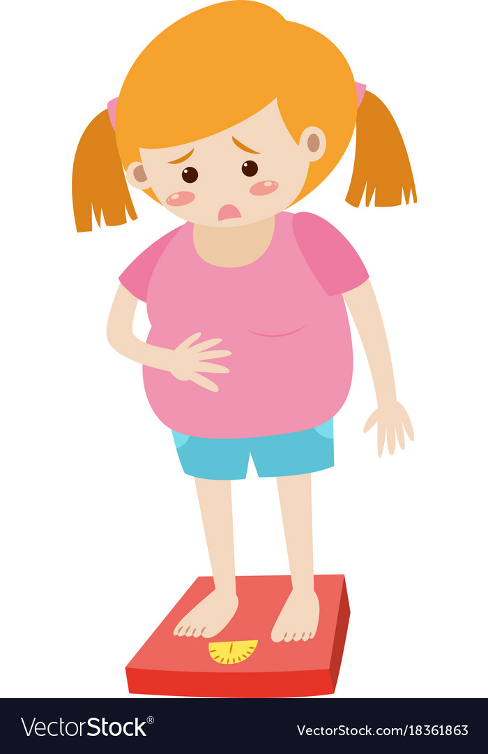 Fat woman clipart free clipart download Fat woman standing on scale clipart download