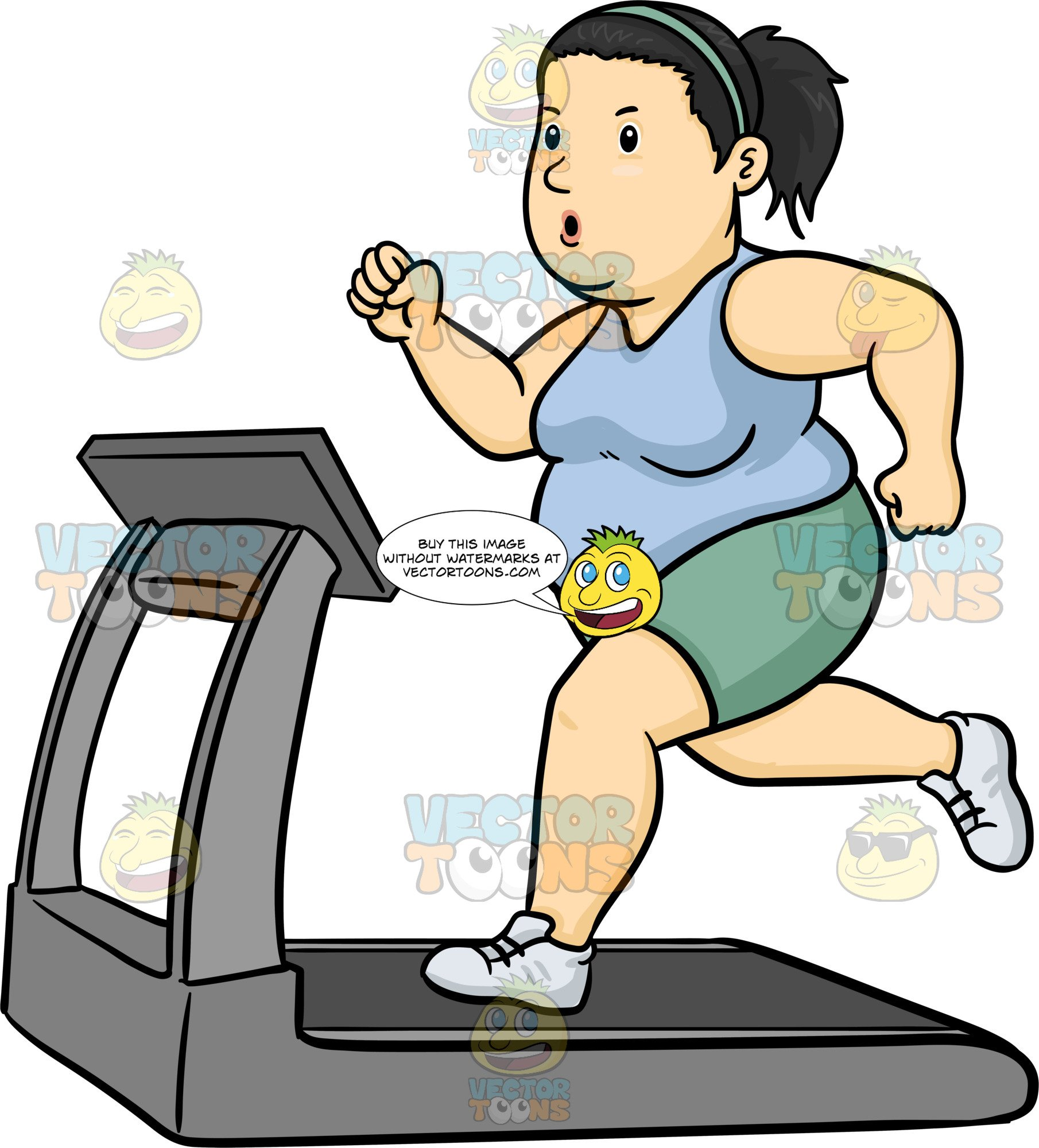 Fat women clipart banner free library A Fat Woman Using The Treadmill To Lose Weight banner free library