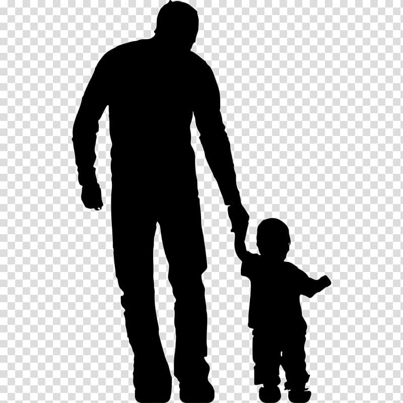 Father and child clipart black and white clip art library download Silhouette of man and toddler, Father Family Child , daughter ... clip art library download