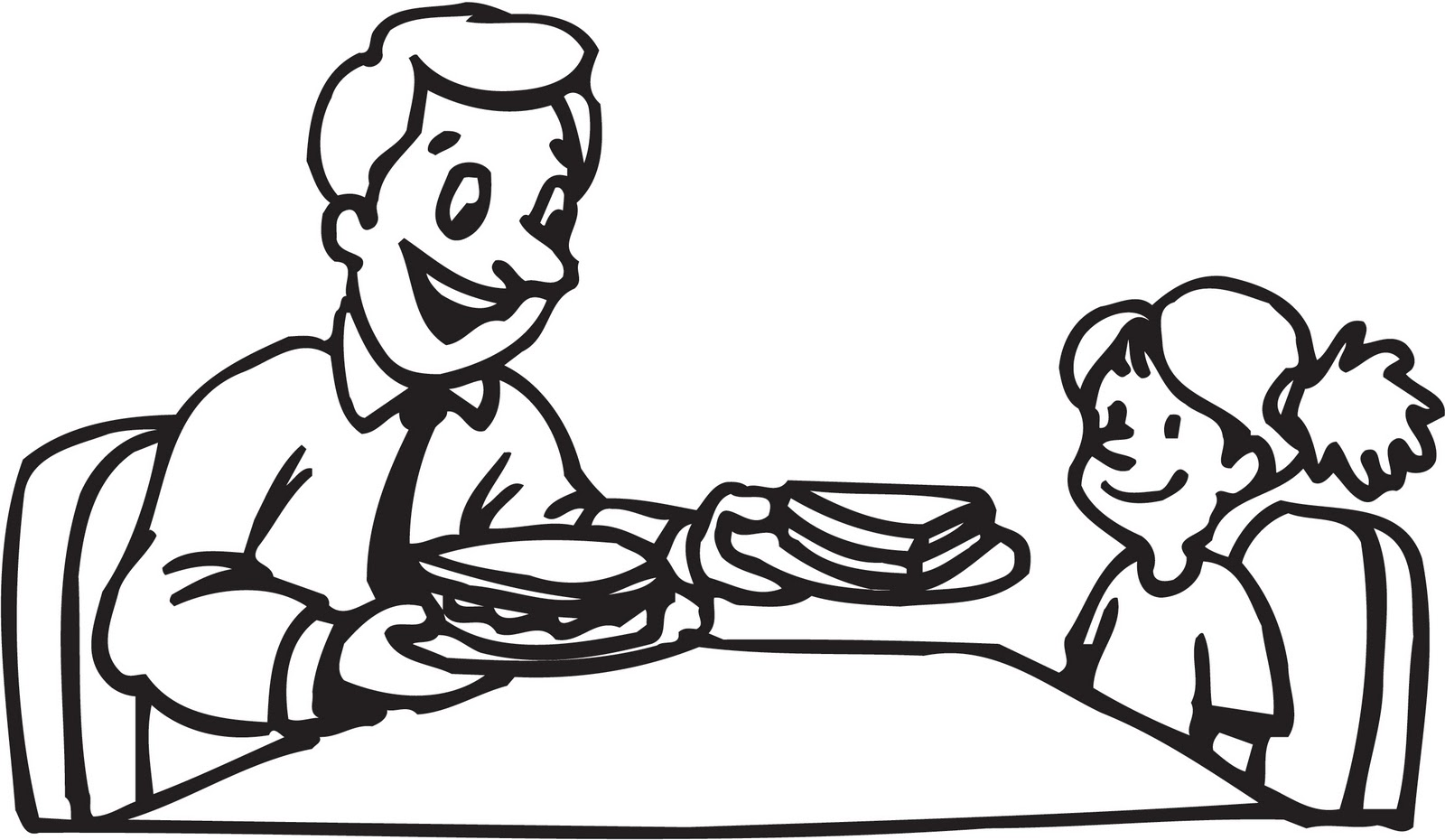 Father and daughter clipart black and white picture transparent library Free Dad Girl Cliparts, Download Free Clip Art, Free Clip Art on ... picture transparent library