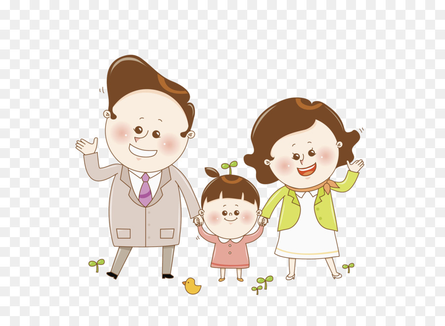 Father and mother clipart brown graphic library library Parents Day Happy Family png download - 2206*1584 - Free Transparent ... graphic library library