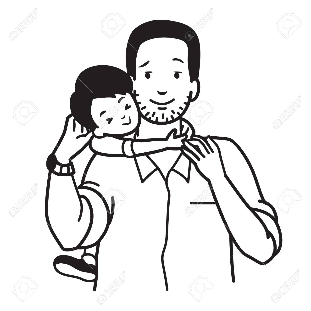 Father and son drawing clipart png download Father And Son Drawing at GetDrawings.com | Free for personal use ... png download
