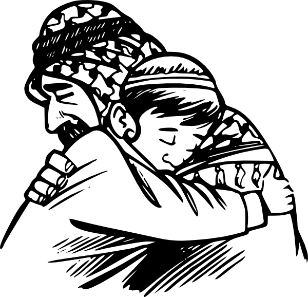 Father and son drawing clipart image freeuse stock Father Hug Son clip art Free vector in Open office drawing svg ... image freeuse stock
