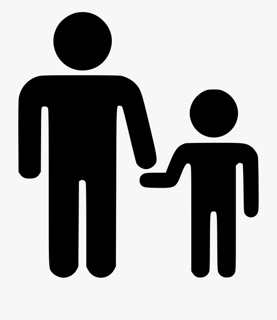 Father and son hand black and white clipart graphic Father Son Svg Png Icon Free Download - Men Women Icon Black ... graphic