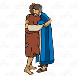 Father and son hugging clipart banner royalty free download Father and Prodigal Son, hugging banner royalty free download