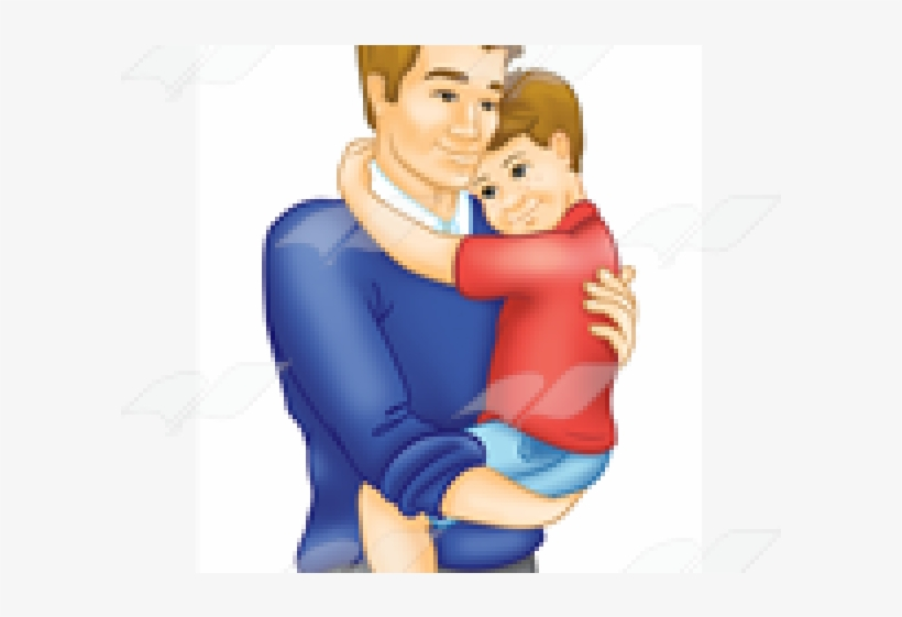 Father and son hugging clipart vector freeuse Download Hug Clipart Father And Son - Cartoon - Full Size PNG Image ... vector freeuse