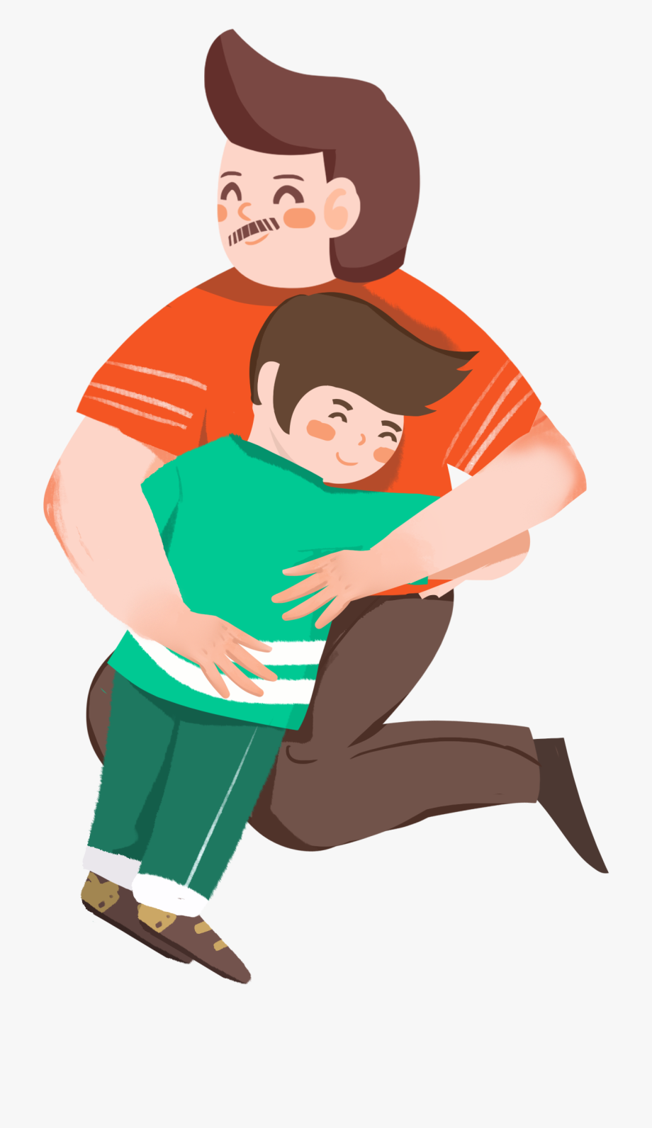 Father and son hugging clipart png free library Fathers Clipart Hugging - Father And Son Png Cartoon, Cliparts ... png free library