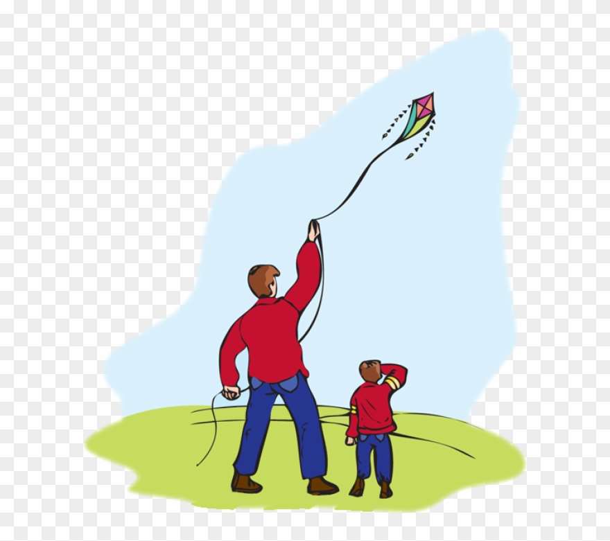 Father can fly a kite clipart black and white picture library Kite Clipart Kite Runner - Father And Son With Kite - Png Download ... picture library