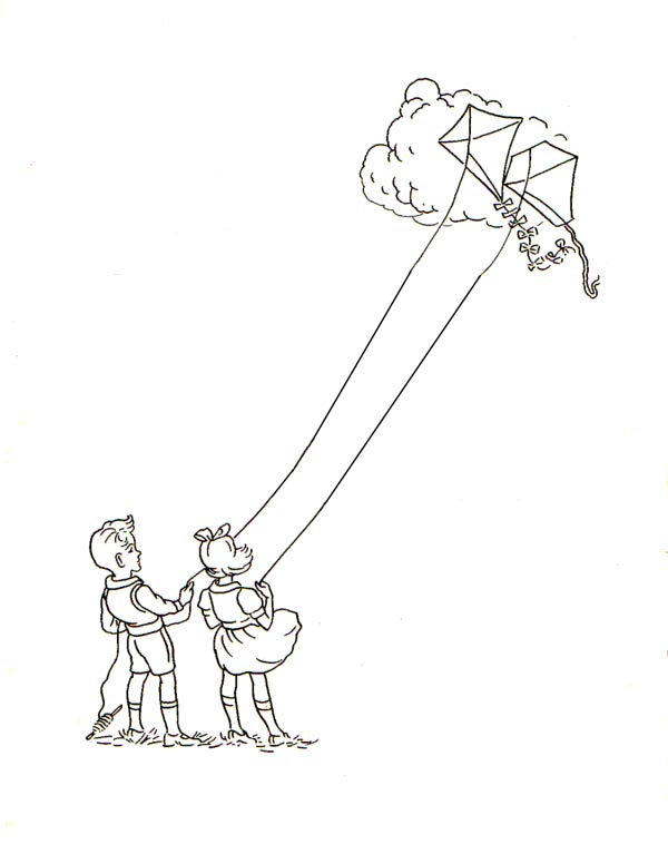 Father can fly a kite clipart black and white graphic Free Kite Flying Cliparts, Download Free Clip Art, Free Clip Art on ... graphic