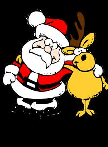 Father christmas and reindeer clipart banner transparent 1022 free christmas clip art santa reindeer | Public domain vectors banner transparent