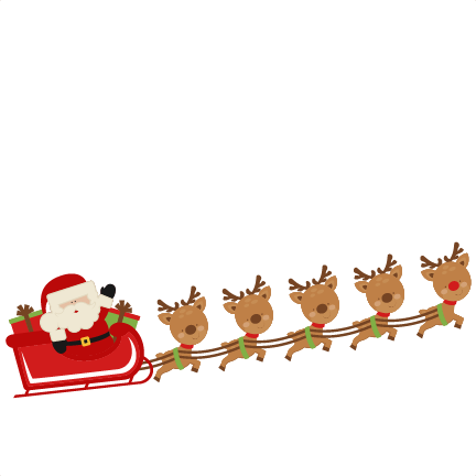 Santa in sleigh with reindeer clipart png transparent Free Santa Reindeer Cliparts, Download Free Clip Art, Free Clip Art ... png transparent