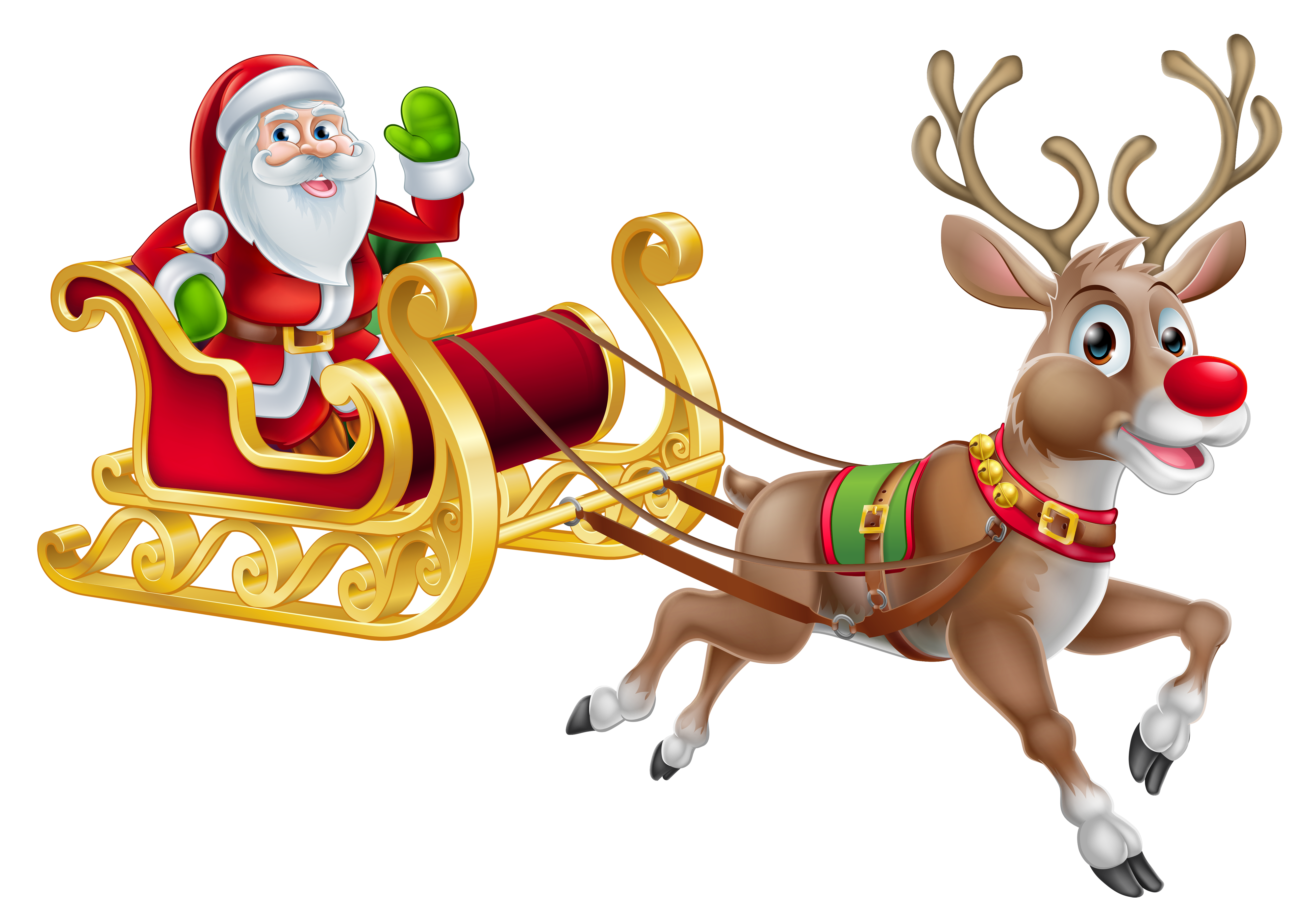 Father christmas clipart vector free Transparent Christmas Santa and Sledge PNG Clipart   Gallery ... vector free